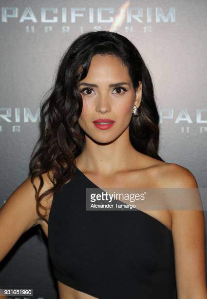 Adria Arjona is seen at the special screening of 'Pacific Rim Uprising' at Cinebistro at City Place Doral in Miami Florida