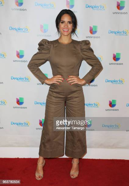 Adria Arjona is seen on the set of 'Despierta America' at Univision Studios to promote the film 'Life of the Party' on May 2 2018 in Miami Florida