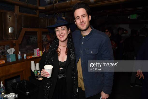 Adria Petty David Zonshine Hot Record's Wammy's Party at Dirty Laundry on February 9 2019 in Hollywood CA