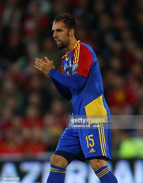 Adria Rodrigues of Andorra during the UEFA EURO 2016 Qualifier match between Wales and Andorra at Cardiff City Stadium on October 13 2015 in Cardiff...