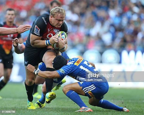 Adriaan Strauss of the Bulls during the Super Rugby match between DHL Stormers and Vodacom Bulls at DHL Newlands Stadium on February 27 2016 in Cape...