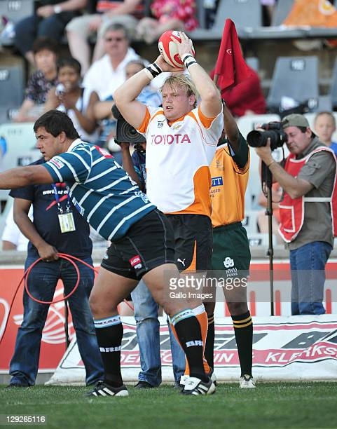 Adriaan Strauss of the Toyota Free State Cheetahs during the Absa Currie Cup match between Toyota Free State Cheetahs and GWK Griquas at Free State...