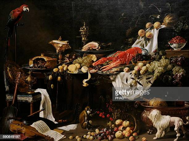 Adriaen van Utrecht Flemish painter Banquet Still Life 1644 Rijksmuseum Amsterdam Holland