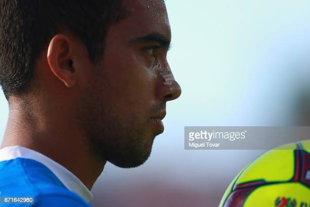 Adrian Aldrete of Cruz Azul looks on during the 15th round match between Cruz Azul and Chivas as part of the Torneo Clausura 2017 Liga MX at Azul...