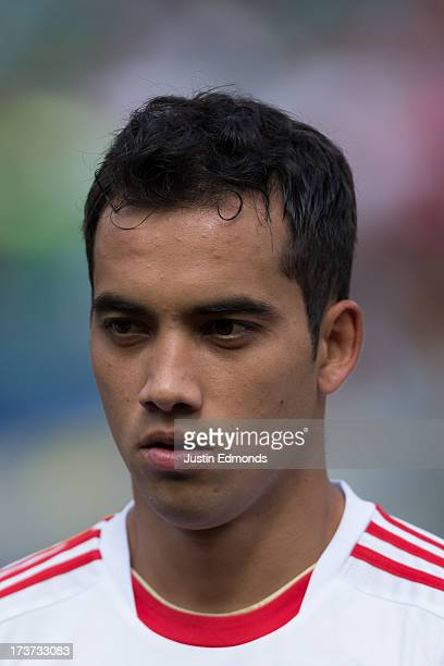 Adrian Aldrete of Mexico before taking on Martinique in a CONCACAF Gold Cup match at Sports Authority Field at Mile High on July 14 2013 in Denver...