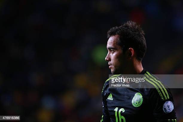Adrian Aldrete of Mexico looks on during the 2015 Copa America Chile Group A match between Mexico and Bolivia at Sausalito Stadium on June 12 2015 in...