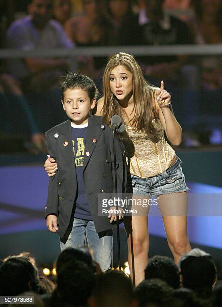 Adrian Alonso and Sherlyn during 2006 Premios Juventud Awards Show at Bank United Center in Miami Florida United States
