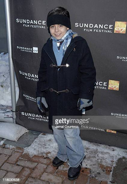 Adrian Alonso during 2007 Sundance Film Festival 'La Misma Luna' Premiere at Library Center Theatre in Park City Utah United States