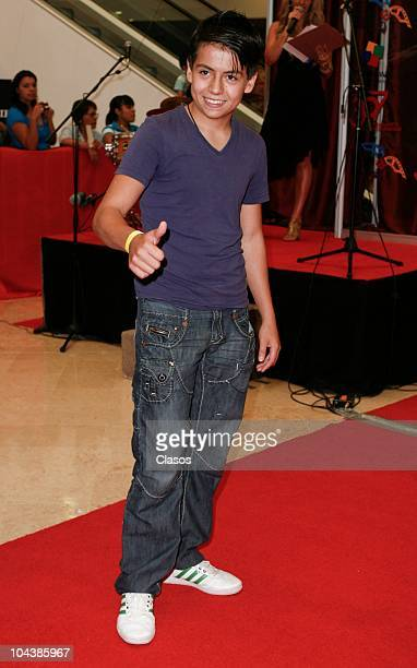 Adrian Alonso poses for the camera during the presentation of the Mexican film De La Infancia as part of the second international film festival in...