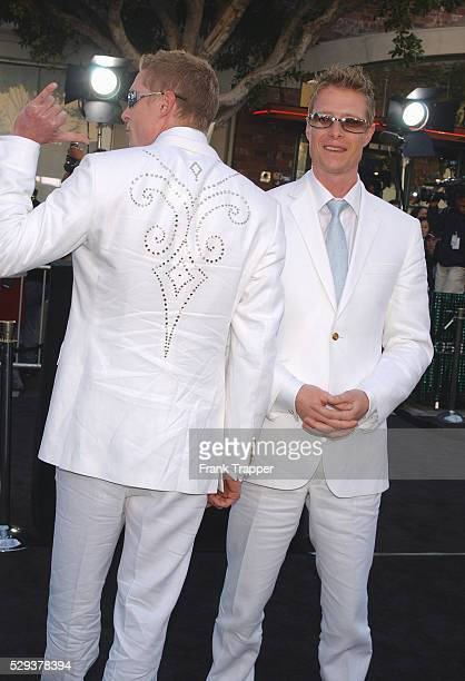 Adrian and Neil Rayment arriving at the premiere of 'The Matrix Reloaded'