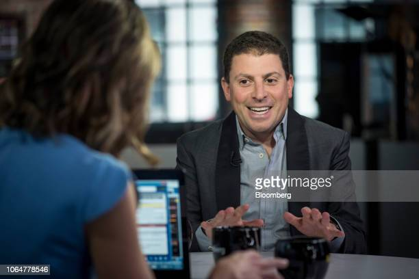 Adrian Aoun founder and chief executive officer of GoForward Inc speaks during a Bloomberg Technology Television interview in San Francisco...