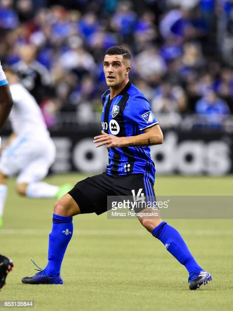 Adrian Arregui of the Montreal Impact runs during the MLS game against the Seattle Sounders FC at Olympic Stadium on March 11 2017 in Montreal Quebec...