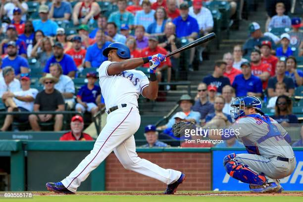 Adrian Beltre of the Texas Rangers at bat against the New York Mets in the bottom of the first inning at Globe Life Park in Arlington on June 6 2017...