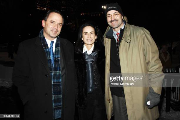 Adrian Benepe Bonnie Pope and Douglas Blonsky attend The CENTRAL PARK CONSERVANCY Annual Skating Party at Wollman Rink on January 20 2009 in New York...