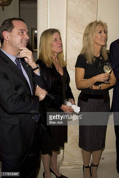 Adrian Benepe guest and Gail Icahn during Carl and Gail Icahn Host a KickOff Cocktail Party at IcahnOs Home in New York City New York United States