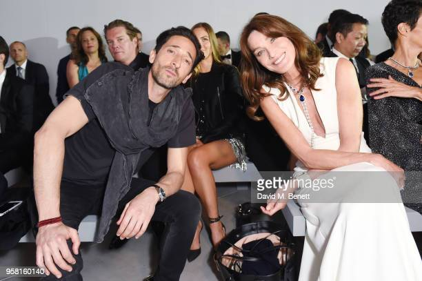 Adrian Brody and Carla Bruni attend Fashion for Relief Cannes 2018 during the 71st annual Cannes Film Festival at Aeroport Cannes Mandelieu on May 13...