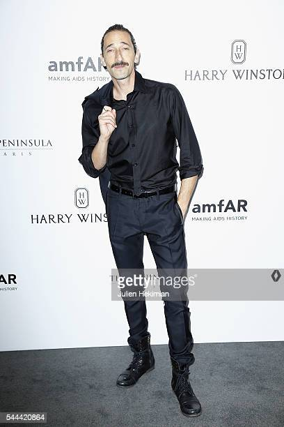Adrian Brody attends the Amfar Paris Dinner at The Peninsula Hotel on July 3 2016 in Paris France