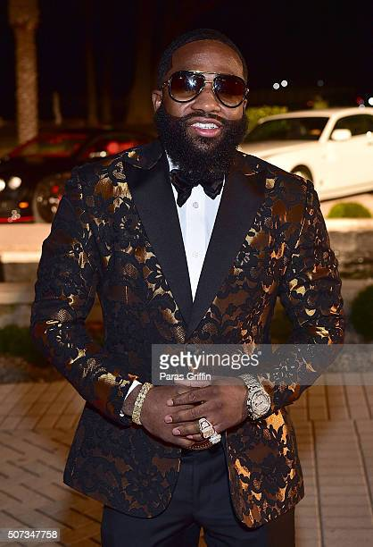 Adrian Broner attends Rick Ross' 40th Birthday Celebration on January 28 2016 in Fayetteville Georgia