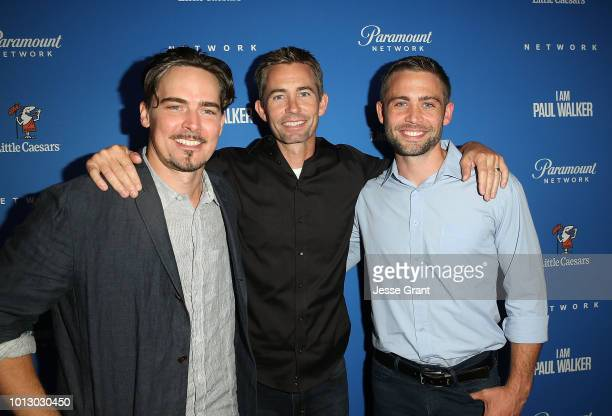Adrian Buitenhuis Caleb Walker and Cody Walker attend the Paramount Network World Premiere of 'I Am Paul Walker' at The London West Hollywood on...