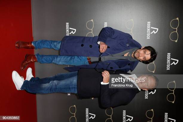 Adrian Can and Oliver Kastalio CEO Rodenstock during the Rodenstock Eyewear Show on January 12 2018 in Munich Germany