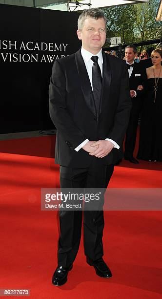 Adrian Chiles arrives at the BAFTA Television Awards 2009 at the Royal Festival Hall on April 26 2009 in London England