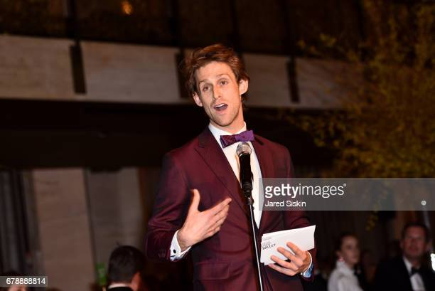 Adrian DanchigWaring speaks at the New York City Ballet 2017 Spring Gala at David H Koch Theater Lincoln Center on May 4 2017 in New York City