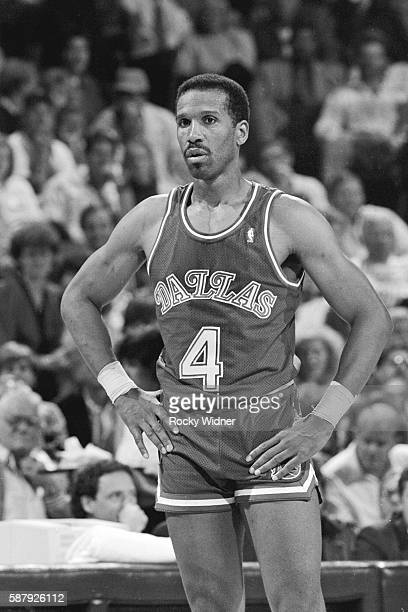 Adrian Dantley of the Dallas Mavericks prepares for a play against the Sacramento Kings during the game on November 7, 1989 at ARCO Arena in...