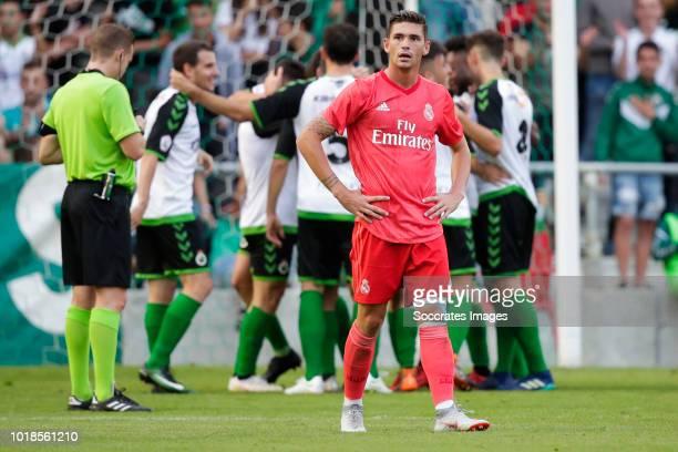 Adrian de la Fuente Barquilla of Real Madrid Castilla CF during the match between Racing Santander v Real Madrid Castilla CF at the Estadio El...