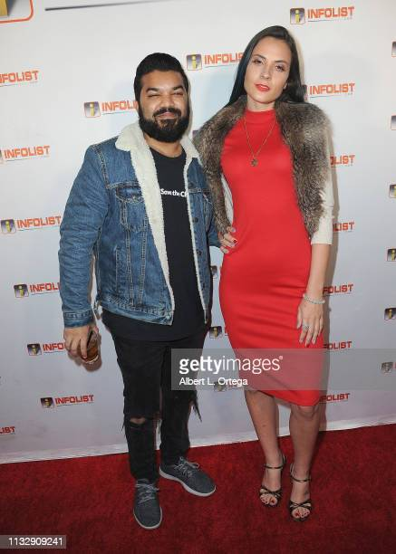 Adrian Dev and Kristi Tucker arrive for PreOscar Soiree Hosted By INFOListcom and Birthday Celebration for Founder Jeff Gund held at SkyBar at the...