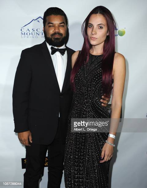 Adrian Dev and Kristi Tucker attend Star For A Night To Benefit Cancer For College held at The Vortex on November 3 2018 in Los Angeles California