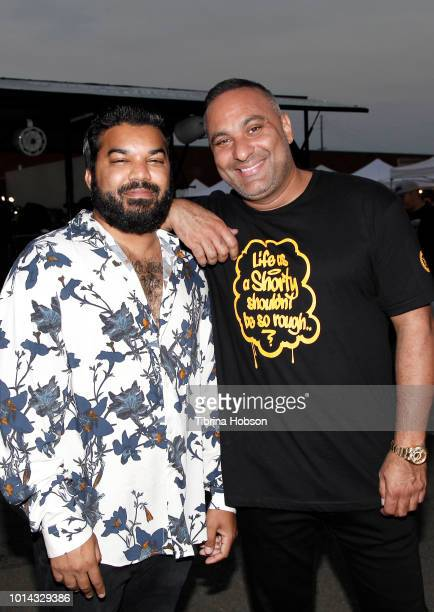 Adrian Dev and Russell Peters attend the Athletes vs Cancer Smoke4aCure Event on August 9 2018 in Inglewood California