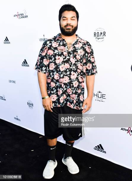 Adrian Dev arrives at the 5th Annual Athletes vs Cancer Celebrity Flag Football Game at Fairfax High School on August 12 2018 in Los Angeles...