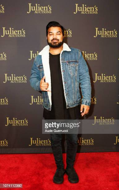 Adrian Dev arrives at the VIP Reception for 'Property From The Collection Of Hugh M Hefner' Auction Event at Julien's Auctions on November 28 2018 in...