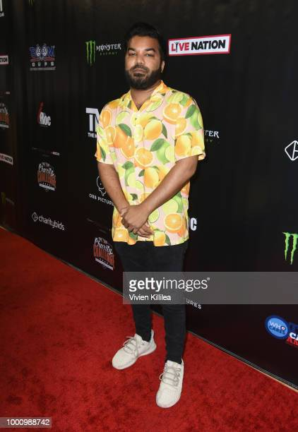 Adrian Dev attends 50K Charity Challenge Celebrity Basketball Game at UCLA's Pauley Pavilion on July 17 2018 in Westwood California