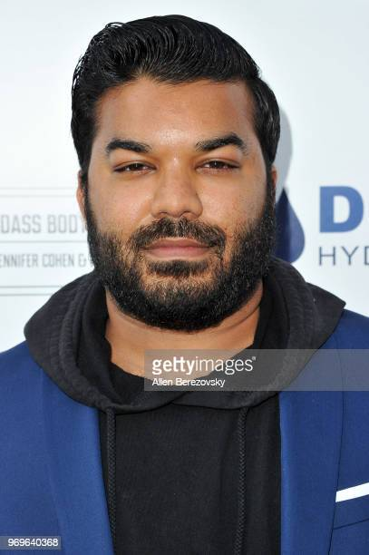 Adrian Dev attends Babes for Boobs Live Bachelor Auction Benefiting Susan G Komen LA County at El Rey Theatre on June 7 2018 in Los Angeles California