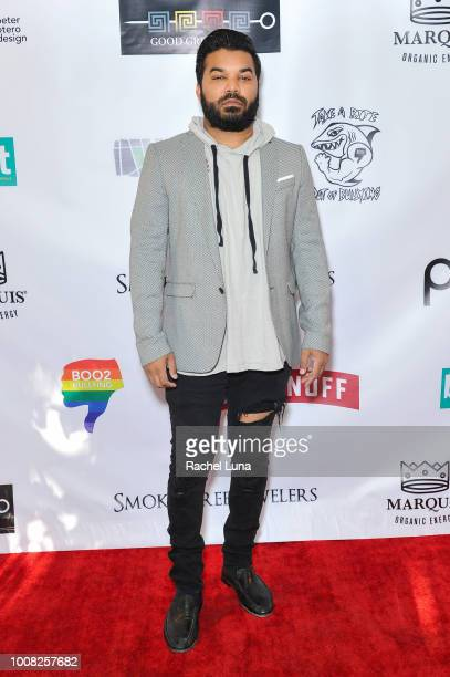 Adrian Dev attends Boo2Bullying's 4th Annual Take A Bite Out Of Bullying at the Los Angeles LGBT Center on July 26 2018 in Los Angeles California