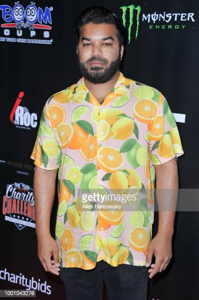 Adrian Dev attends Monster Energy Outbreak $50K Charity Challenge celebrity basketball game at UCLA on July 17 2018 in Los Angeles California