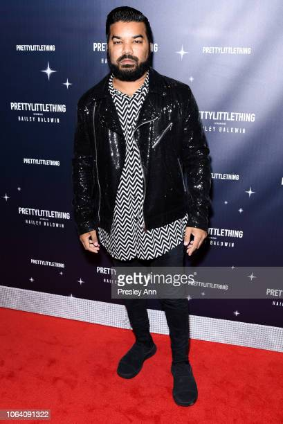 Adrian Dev attends PrettyLittleThing X Hailey Baldwin at Catch on November 05 2018 in West Hollywood California