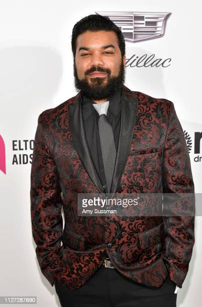 Adrian Dev attends the 27th annual Elton John AIDS Foundation Academy Awards Viewing Party celebrating EJAF and the 91st Academy Awards on February...
