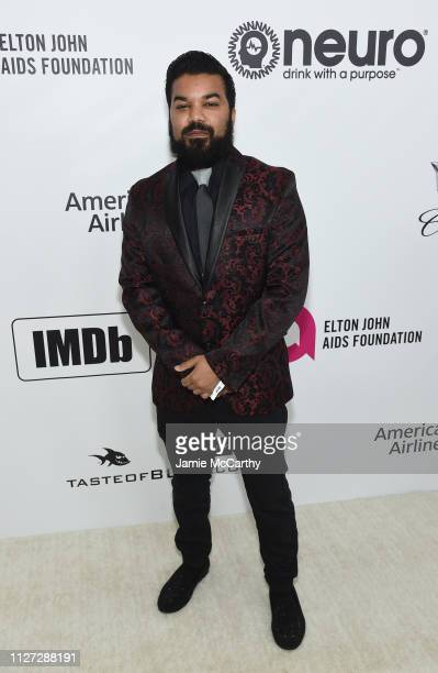 Adrian Dev attends the 27th annual Elton John AIDS Foundation Academy Awards Viewing Party sponsored by IMDb and Neuro Drinks celebrating EJAF and...