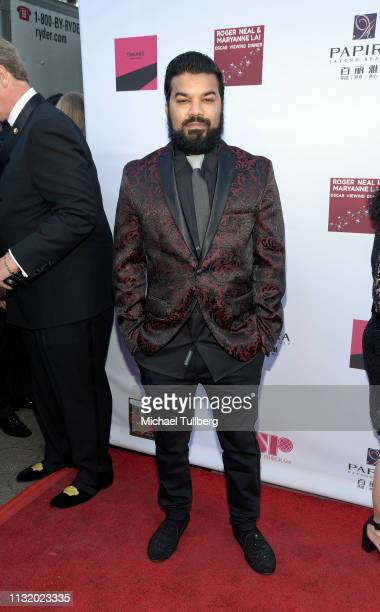 Adrian Dev attends the 4th annual Roger Neal Oscar Viewing Dinner Icon Awards and after party at Hollywood Palladium on February 24 2019 in Los...