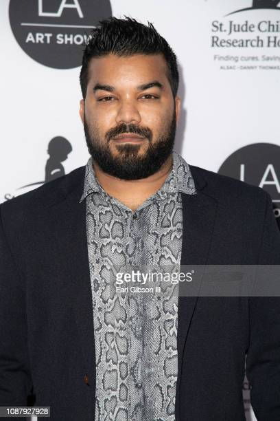 Adrian Dev attends the LA Art Show 2019 at Los Angeles Convention Center on January 23 2019 in Los Angeles California