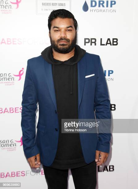 Adrian Dev attends the Babes for Boobs live auction benefiting Susan G Komen LA at El Rey Theatre on June 7 2018 in Los Angeles California