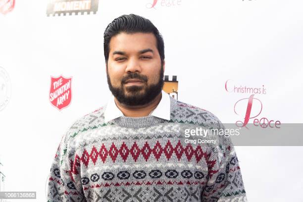 Adrian Dev attends The Salvation Army Celebrity Digital Kettle Kickoff Hollywood on November 27 2018 in Los Angeles California
