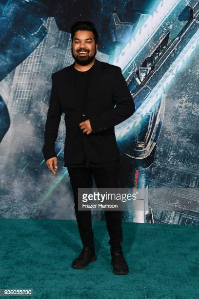 Adrian Dev attends Universal's 'Pacific Rim Uprising' premiere at TCL Chinese Theatre IMAX on March 21 2018 in Hollywood California