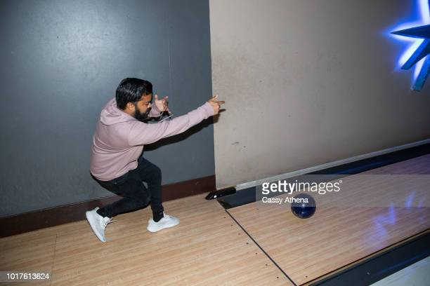 Adrian Dev bowls at the Bowl 4 a Cure event hosted by Matt Barnes and Snoop Dogg at Lucky Strike on August 10 2018 in Los Angeles California