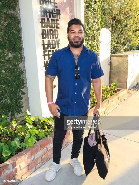 Adrian Dev is seen on July 11 2018 in Los Angeles California