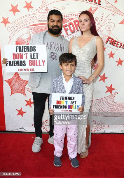 Adrian Dev Kristi Tucker and Brodie Chaudhury attend Free2luv hosts AntiBullying Unstoppable Tour De Force Cirque Benefit at The Regent Theatre on...