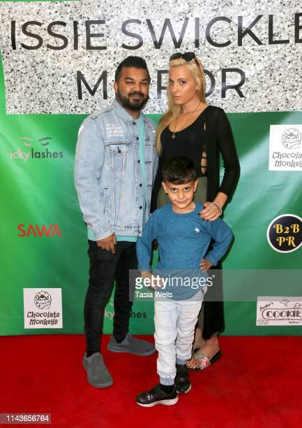 Adrian Dev Kristi Tucker and Brodie Chaudhury attend Issie Swickle Celebrates the Release of Her New Single Mirror at The Industry Loft Space on...