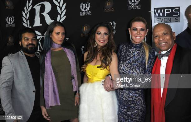 Adrian Dev Kristi Tucker Michelle Romano Tara Reid and Ewart Chin arrive for Roman Media's 5th Annual Hollywood Event A Celebration of Women and...